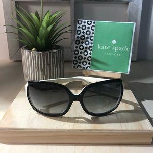 Kate Spade ~Cila~ White / Black Frame Sunglasses